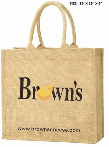 Promotional Jute Tote Bag With Padded Rope Handle