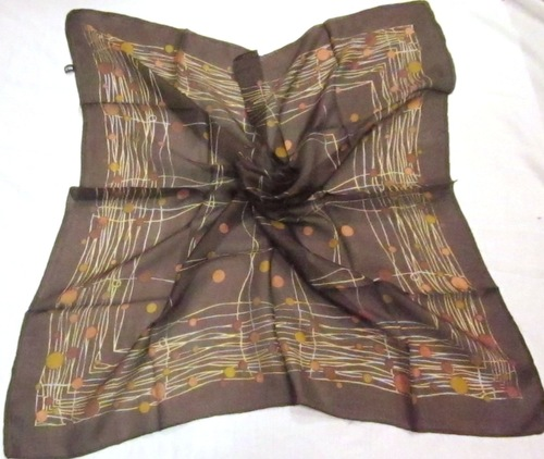 Silk Printed Square Scarves