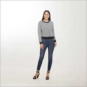 LadiesPrice varies as per the order quantity and product specification. Grey-Black Sweater