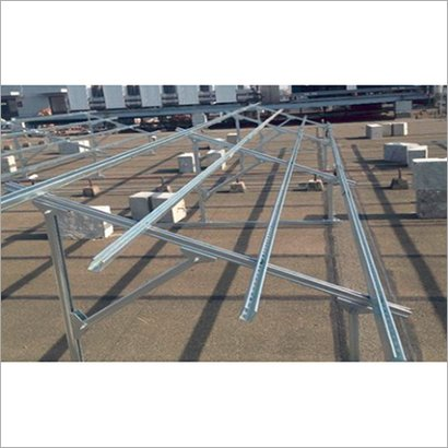 Mild Steel Prefab Solar Panel Structure Fabrication, For Industrial