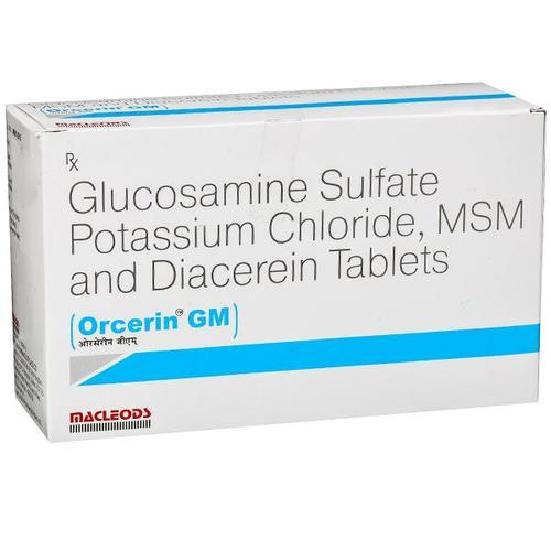 Diacerein, Glucosamine And MSM Tablets
