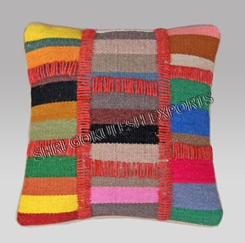 Handloom Woven Technics Cotton Cushion Covers