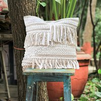 Designer Home Festival Decorative Cushion Covers With Fringes