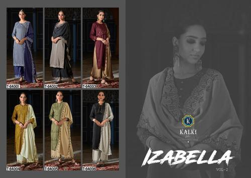 Izabella Vol-2 Pure Weaving Butti Silk Desginer Cut Work Emborodry 3 Pic Kurtis