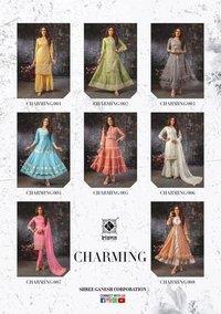 Charming Designer Georgette,chanderi Silk And Mal Cotton Kurtis
