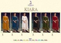 Kiara Rayon Malai Foil Print Kurtis 3 Pic