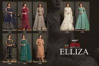 Elliza 4591 Series Designer Net Long Gowns