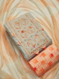 Khadi Cotton Dress Material Suit