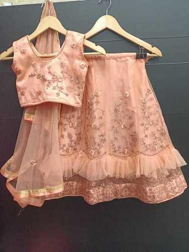 Girls net Fully Stitched New Fashion Kids Lehenga choli