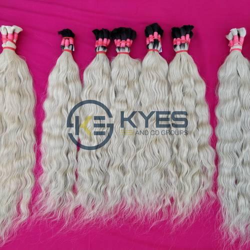 Blonde Hair South Indian Temples Raw Human Hair