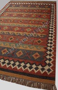 Indian Handmade 100% Jute Flat Weave Decorative Carpets