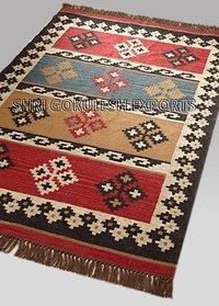 Indian Handmade Natural Jute Flat Weave Floor Carpets