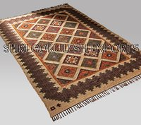 Handmade 100% Jute Flat Weave Indian Style Decorative Carpets