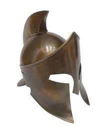 Copper Antique MOVIE 300 Rise of An Empire Spartan Helmet - 300 Spartan Armour Helmet