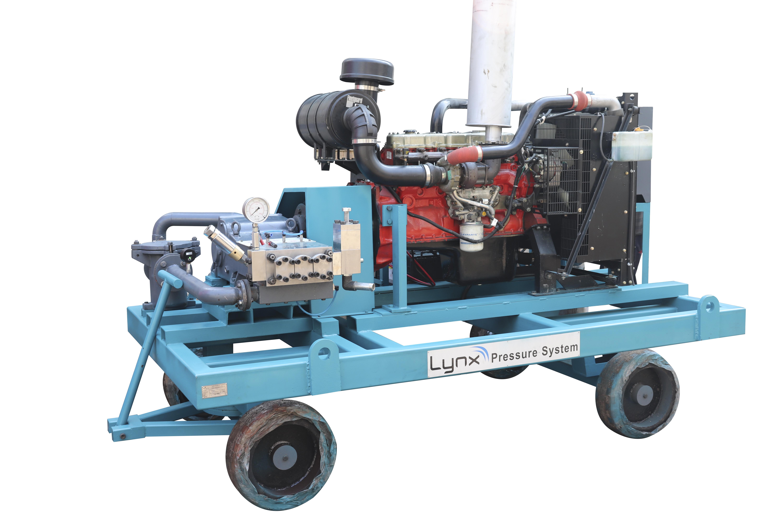 Electric-Diesel operated Hydro Blasting Machines