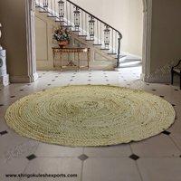 Indian Handmade Natural Braided Jute Carpets