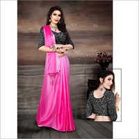 Ladies Pink Saree