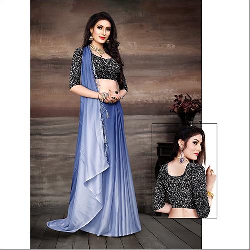 Blue Designer Saree