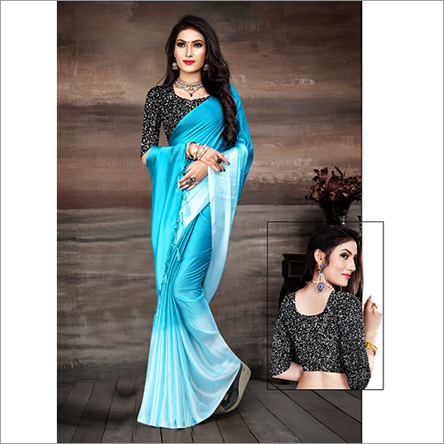 Ladies Sky Blue Saree