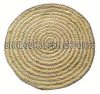 New Style Indian Handmade Jute Braided Floor Carpts