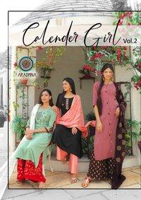Calender Girl Vol 2 Liva Rayon With Embroidery Work Kurtis