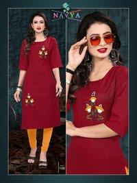 Fashion Bits Diya Slub Lining / Rayon Baze Fabric Kurtis