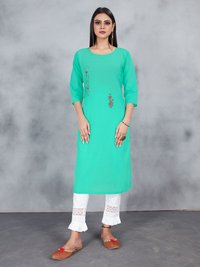 Fashion Queen Premium Cotton With Embroidery Work Kurtis