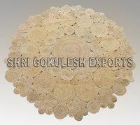 Indian Design Handmade 100% Jute Braided floor Carpets