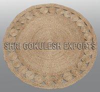 Indian Modern Design Handmade Braided Jute Carpets