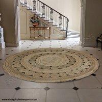 100% Indian Handmade Modern Design Braided Jute Carpets