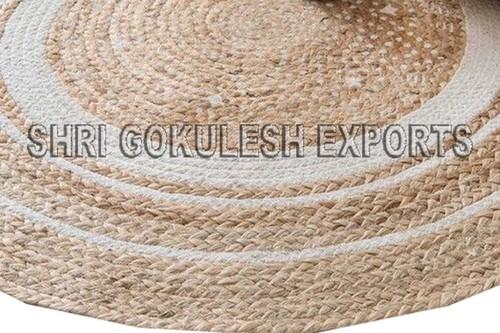 Abstract Modern Pattern Indian Handmade Braided Jute Carpets