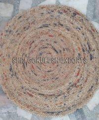 Decorative Modern Design Indian Handmade Jute Braided Carpets