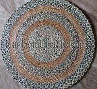 Indian Modern Antique Design Braided Jute Carpets