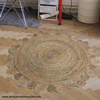 New Design Round Shape Indian Handmade Braided Jute Carpets