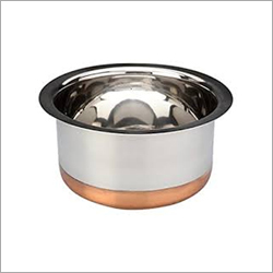 Stainless Steel Copper Round Bottom Top