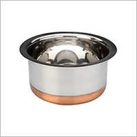 Stainless Steel Copper Round  Bottom Tope