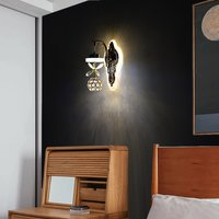 17w Crystal Hanging,3 Way Led, Wall Lamp Indoor (Warm White)