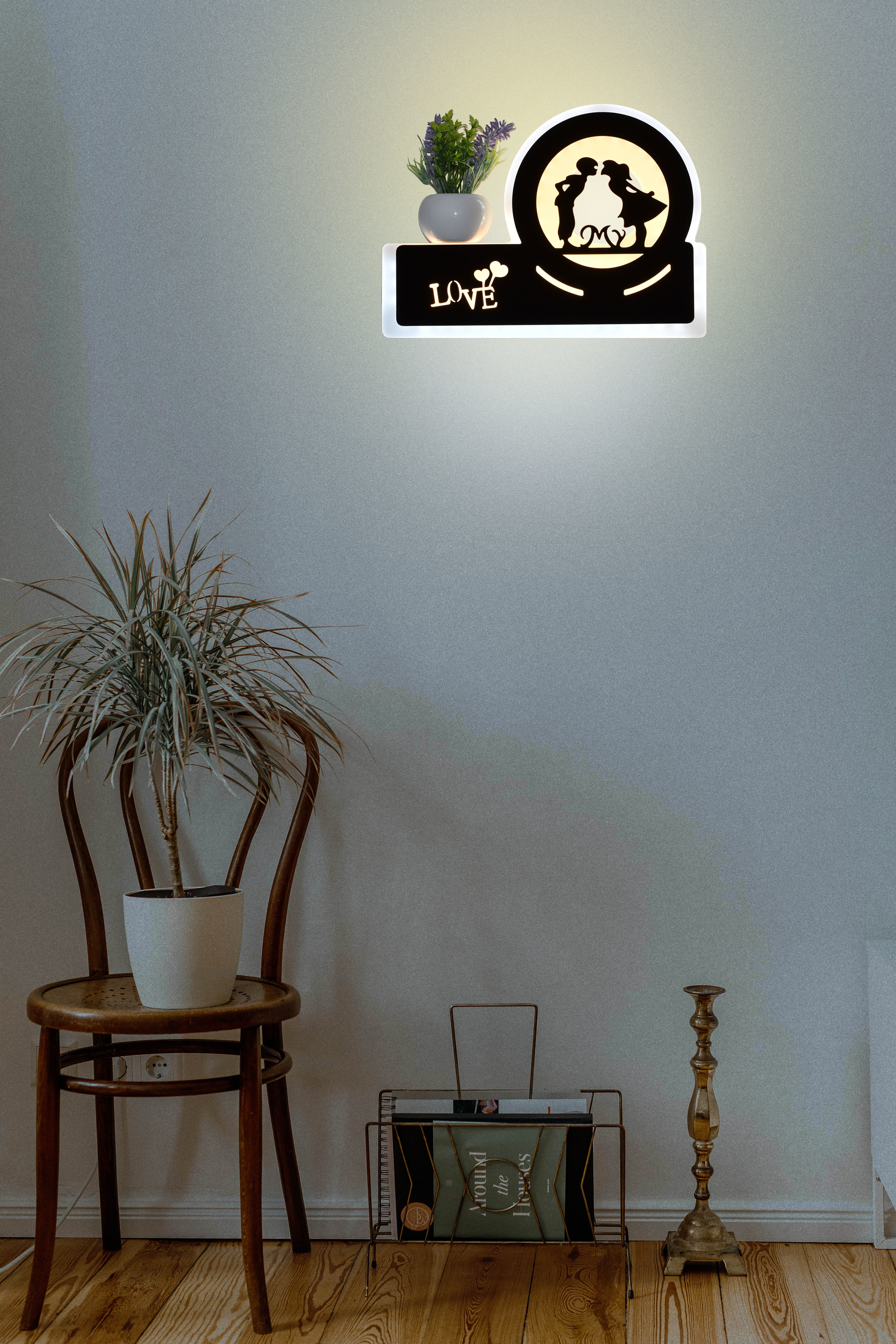 23w My Love Decor Wall Led Lamp (Warm White + Cold White)