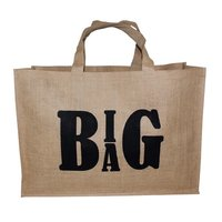 PP Laminated Jute Shopping Bag With Cotton Web Handle
