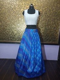 Shraddha Blue Crop Top