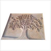 Sandstone Engraved Tree