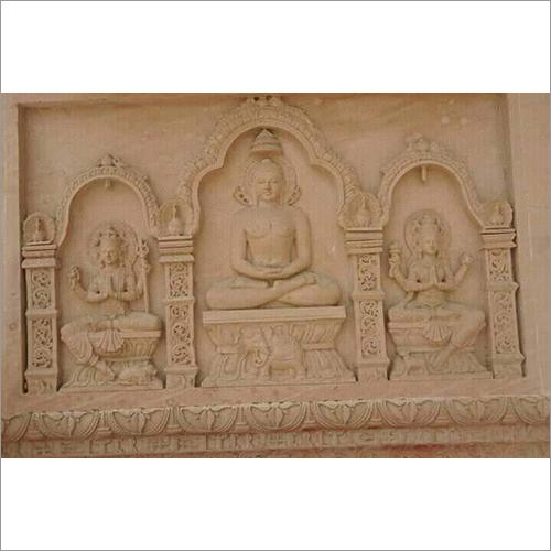 Sandstone Wall Statues
