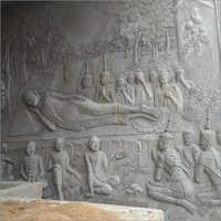 Sandstone Gautam Budh Wall Sculpture