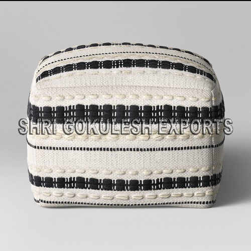 Indian Manufacture Cotton Handmade Poufs