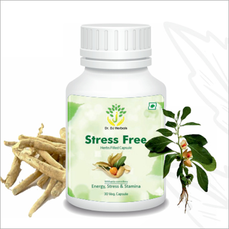Stress Relief Ashwagandha Herbs Filled Capsule