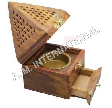 Wood Wooden Incense Burner