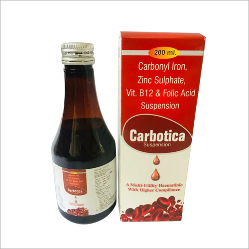 Carbonyl Iron Zinc Sulphate Vitamin B12 And Folic Acid Suspension