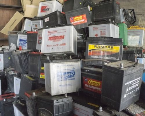 Used Drained Lead Car Battery Scrap