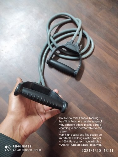 Exercise Tonning Tube With Double Tube And Handle