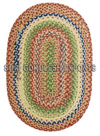 Cotton Braided Indian Handwoven Decorative Carpets